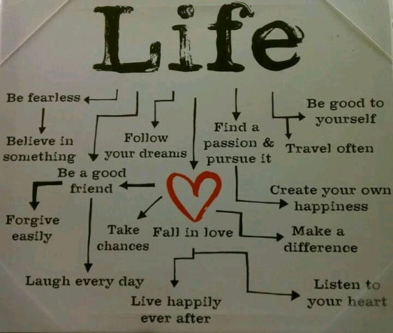 flow chart called life